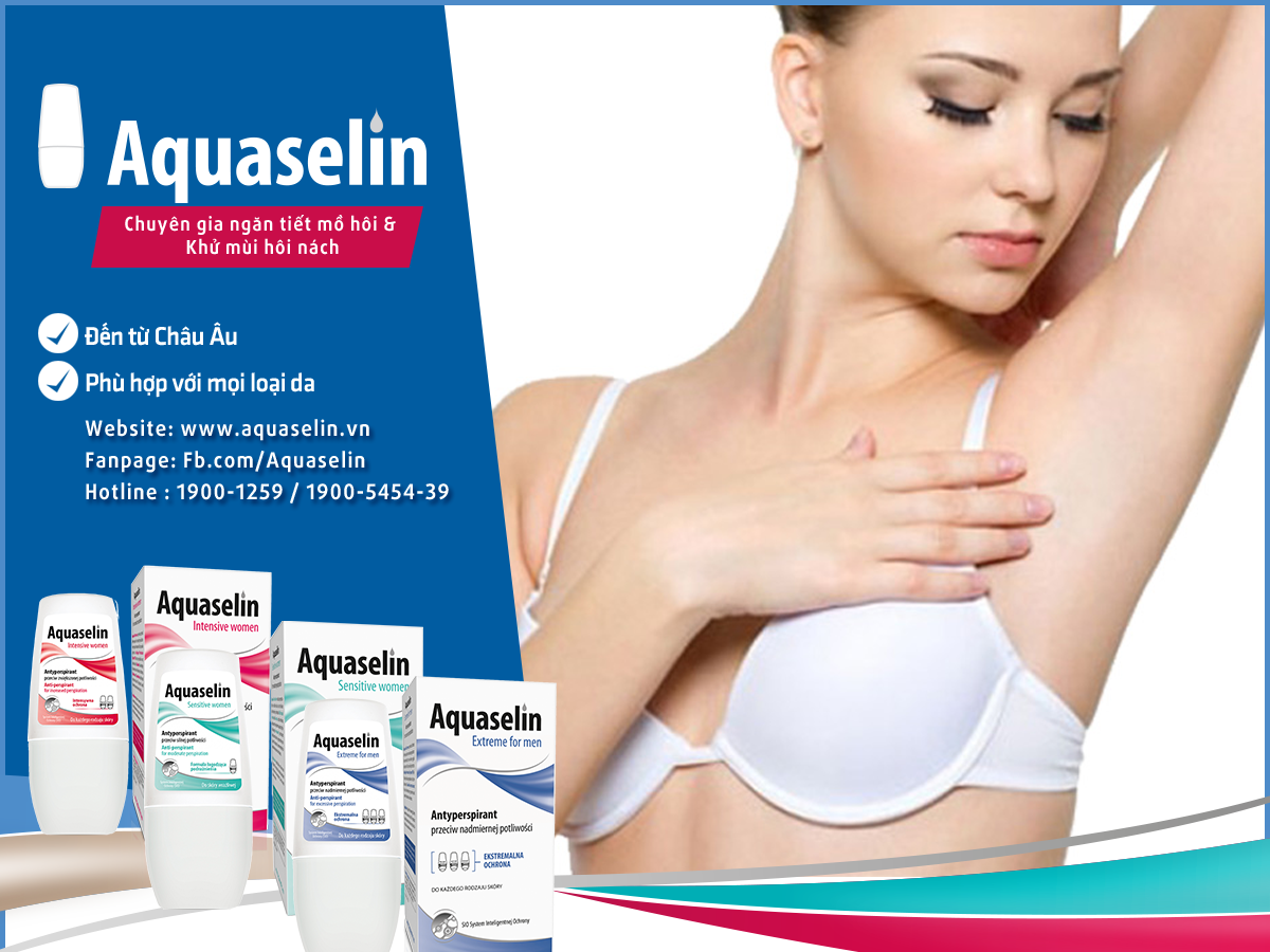 Cách giảm mồ hôi nách hiệu quả nhất bằng Aquaselin