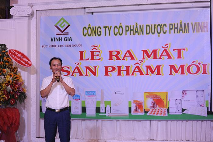 Chủ tịch HĐQT DP Vinh Gia, ông Ngô Thế Vinh phát biểu trong buổi lễ ra mắt sản phẩm mới