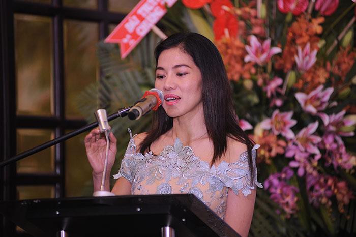 TGĐ Công ty Sen Vàng, bà Phạm Kim Dung chia sẻ về những trải nghiệm dùng các sản phẩm của DP Vinh Gia