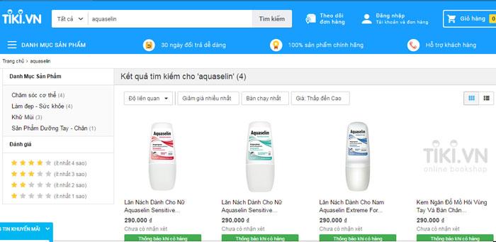 Sản phẩm aquaselin chuyên gia ngăn tiết mồ hôi